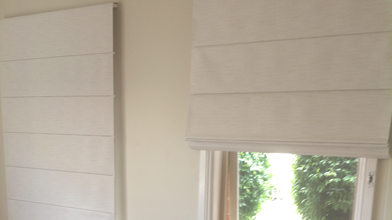 Coloured Roman Blinds